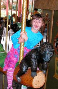 Jasmine on Denver Zoo Carousel