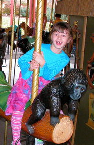 Jasmine on Denver Zoo Carousel