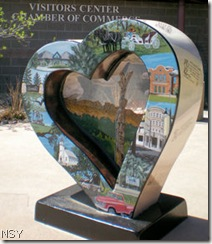 Loveland Visitor Center with Heart