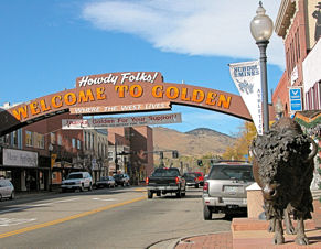 Golden Welcome Arch
