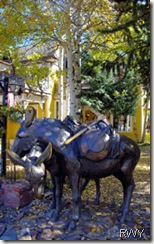 Pack Mule Sculpture in Breckenridge