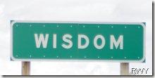 Wisdom Sign for Blog