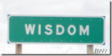 Wisdom Sign for Blog