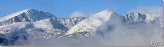 Breckenridge Peaks in Snow