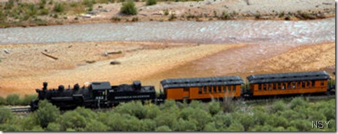 D&SNG Railroad by River