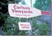 Carlson Vineyards Sign