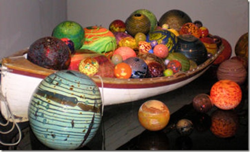 Chihuly - Boat with Orbs-n