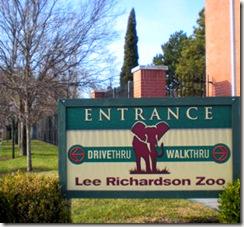 Garden City Zoo - Sign