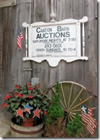 Auction Barn Sign