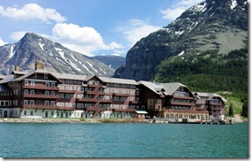 Many Glacier Lodge across Lake