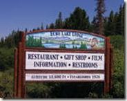 Echo Lake Lodge Sign