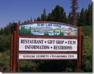 Echo Lake Lodge Sign