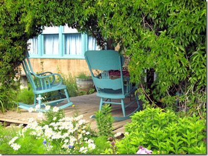Blue Chairs on Couse Porch - B