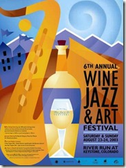 Keystone Wine and Jazz Poster