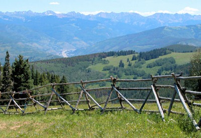 Mountain Range and Fence - B
