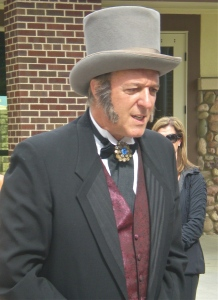 """Original"" homesteader Samuel Allen Long made an appearance at the Highland Ranch Mansion grand opening."