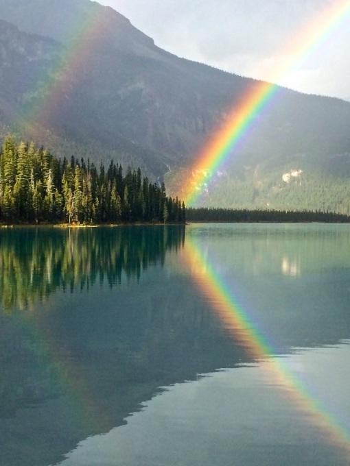 Emerald Lake Rainbow - V