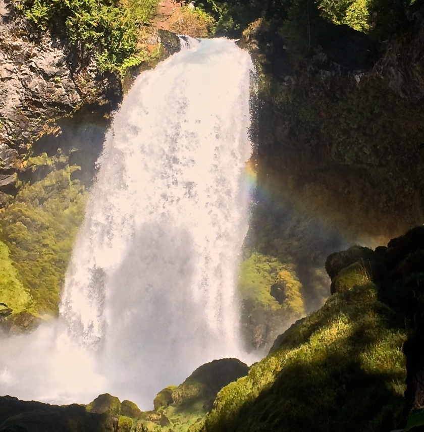 Sahalee Falls with Rainbow