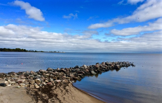 Lake Winnipeg in Blue