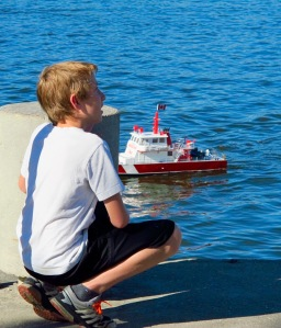 Boy & Fire Boat - Regina