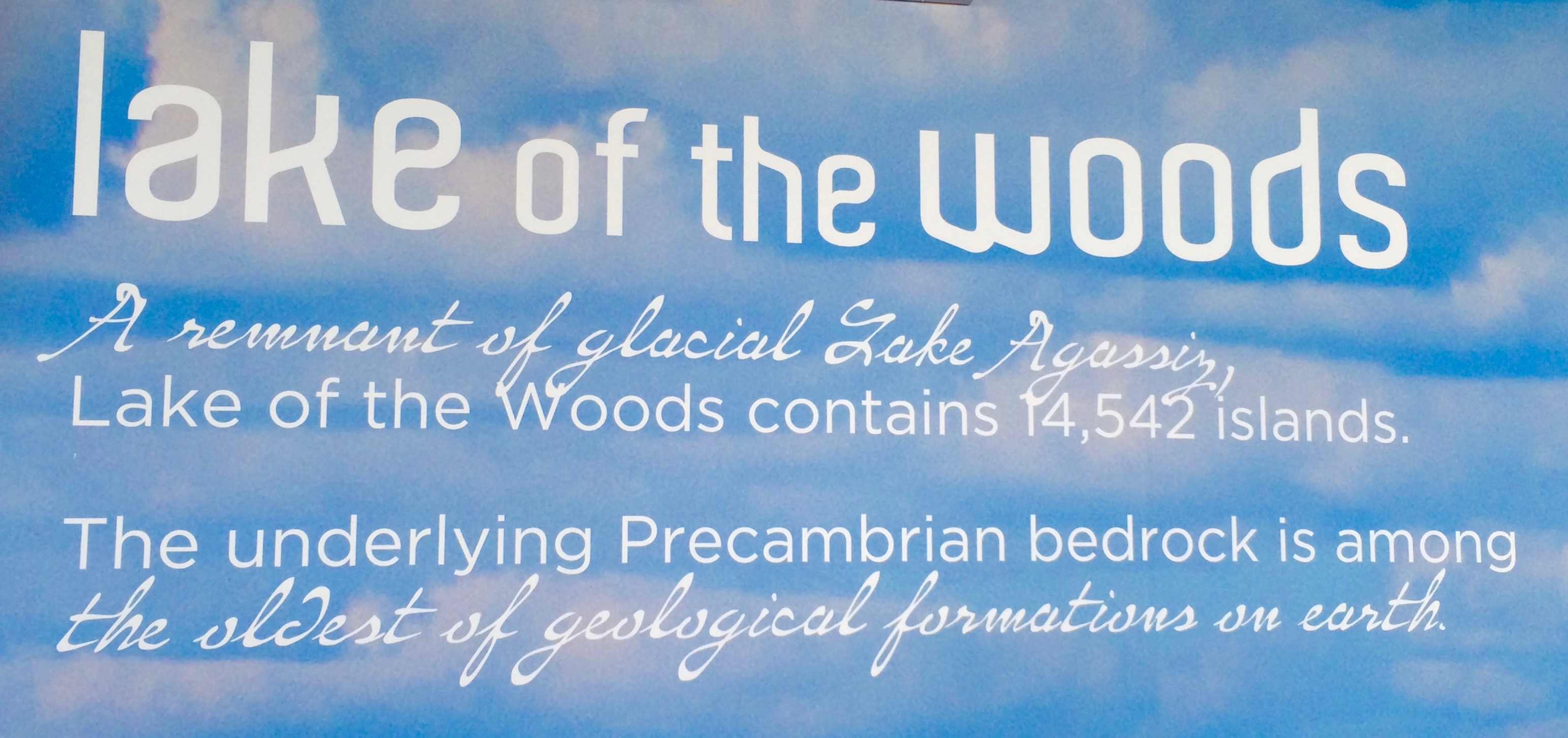 Lake of the Woods Sign