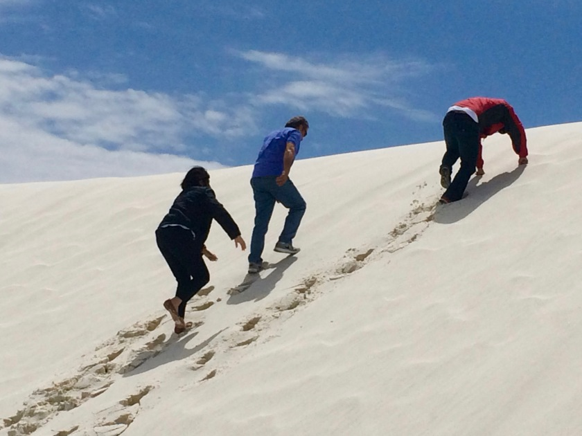 Climbing the White Sands Dunes