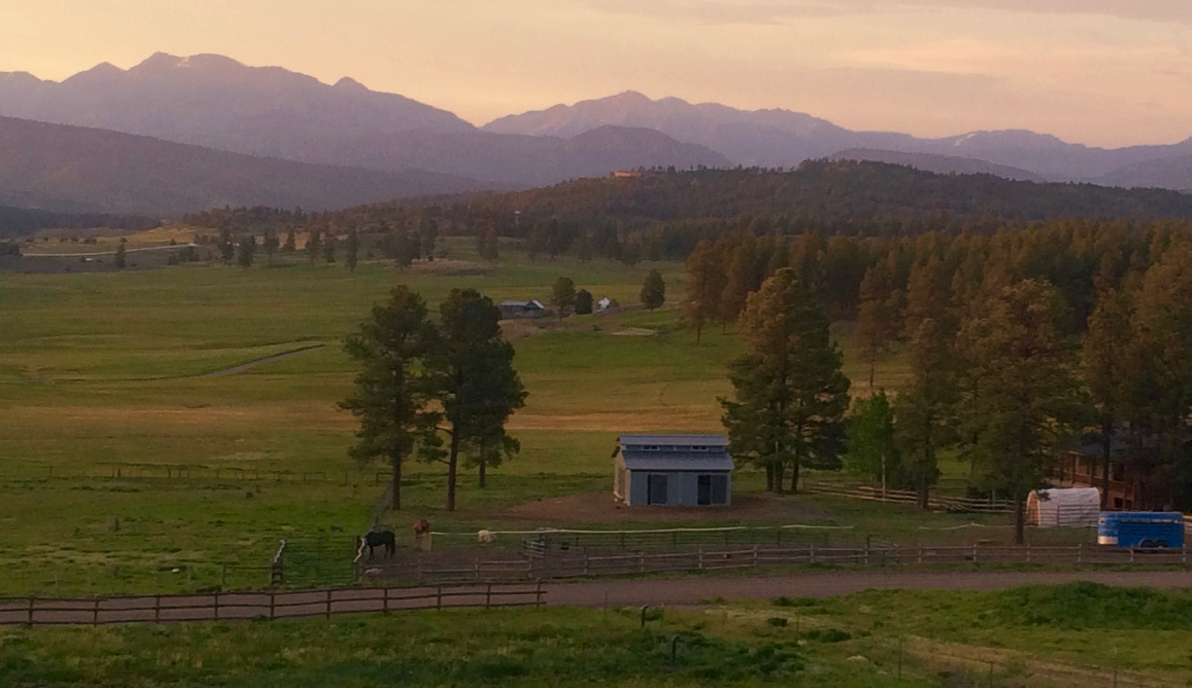 Evening View from Pagosa Springs B&B